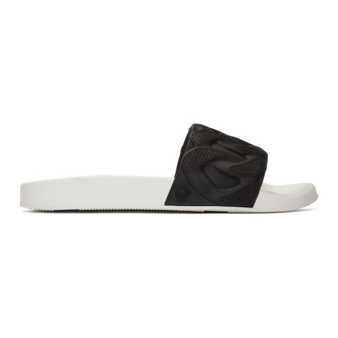 Photo: Versace Black and White Chain Pool Slides