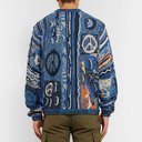 KAPITAL - Cotton-Blend Jacquard Sweater - Men - Navy