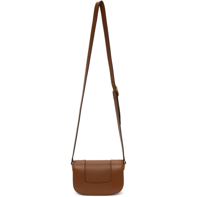 Valentino Tan Valentino Garavani Small Super VLogo Shoulder Bag