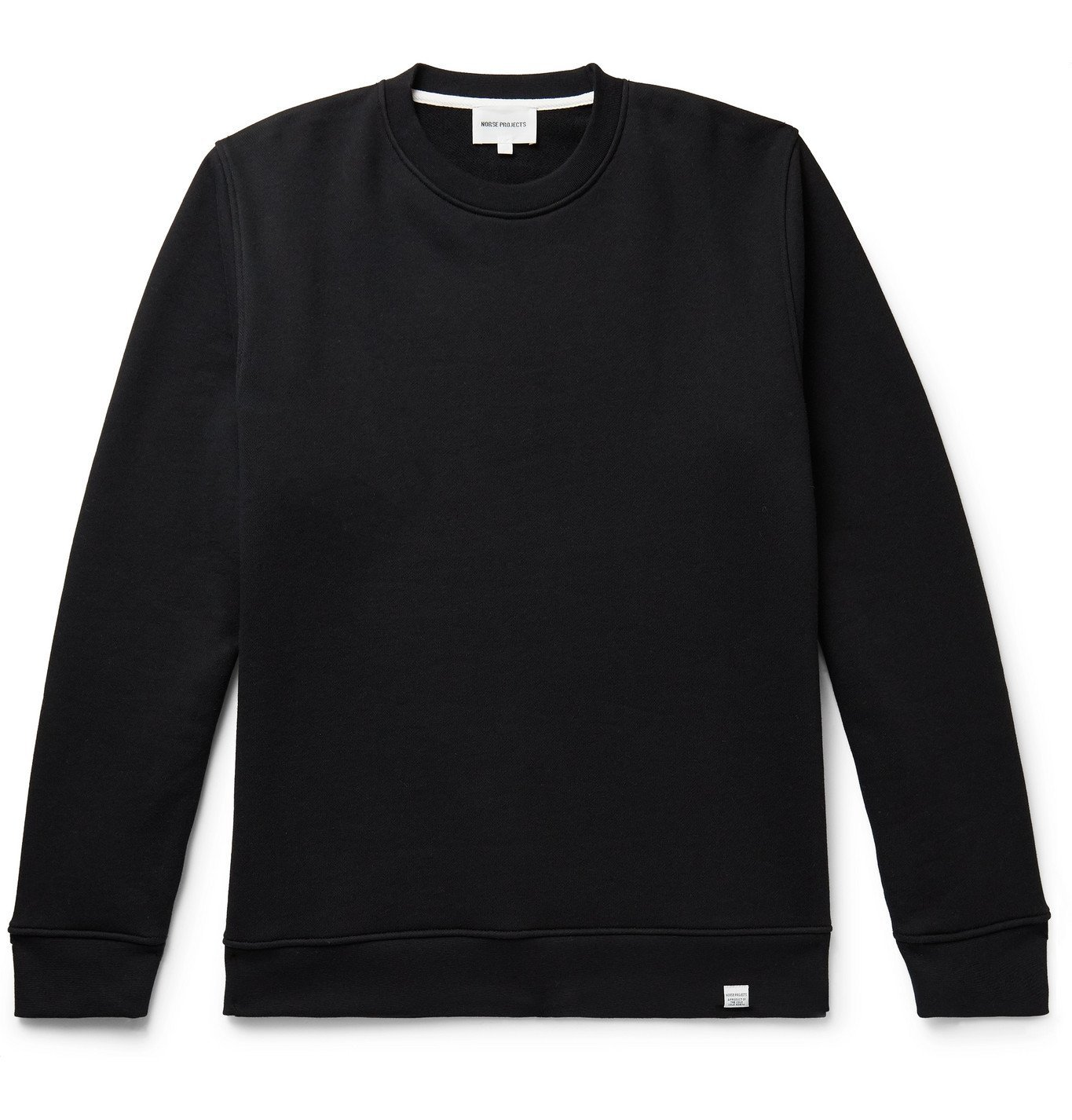 Photo: Norse Projects - Vagn Loopback Cotton-Jersey Sweatshirt - Black
