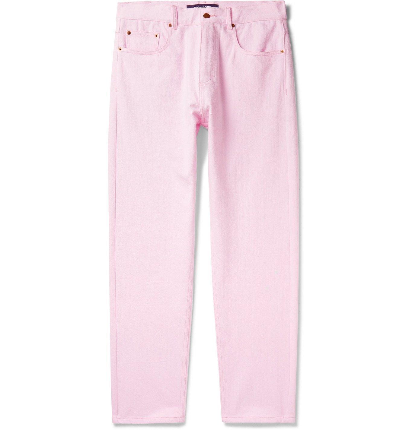 Photo: Noon Goons - Glasser Garment-Dyed Denim Jeans - Pink