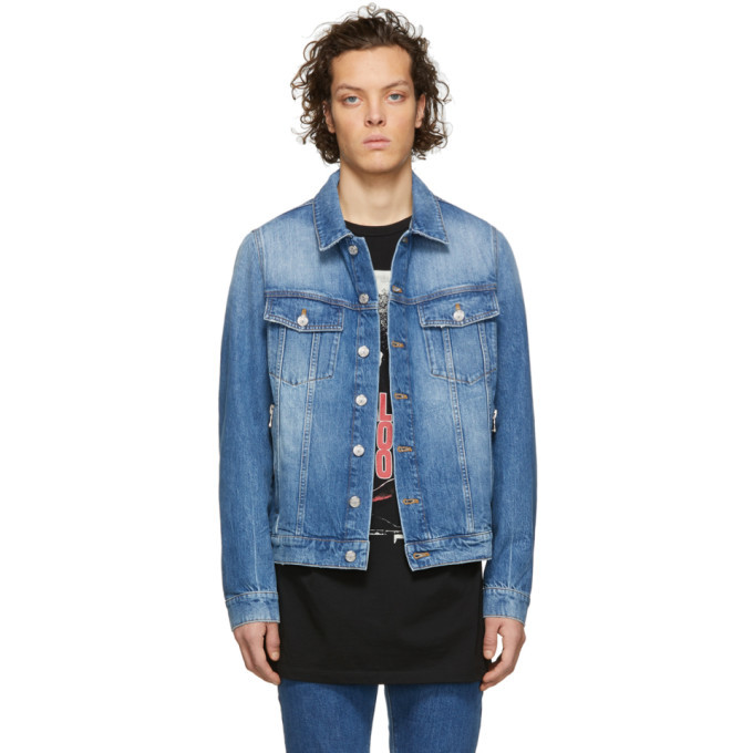 Photo: Balmain Blue Denim Logo Jacket