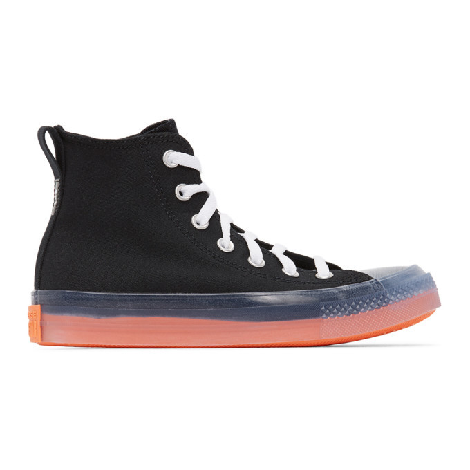 Photo: Converse Black and Pink Chuck Taylor All Star Sneakers