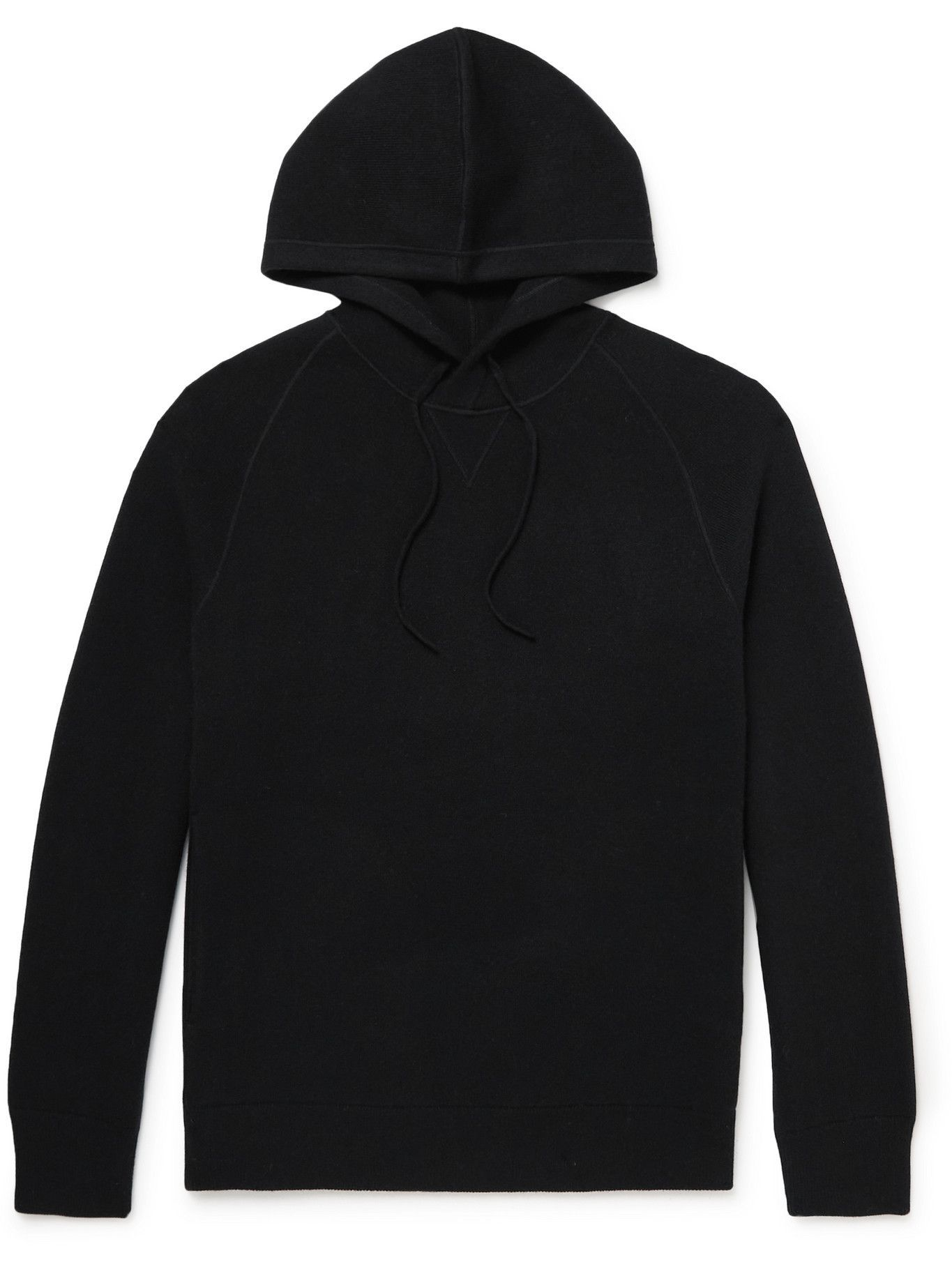 Photo: Theory - Wool and Cashmere-Blend Hoodie - Black