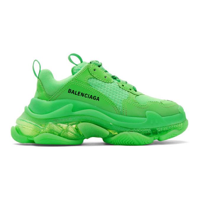 Photo: Balenciaga Green Triple S Sneakers