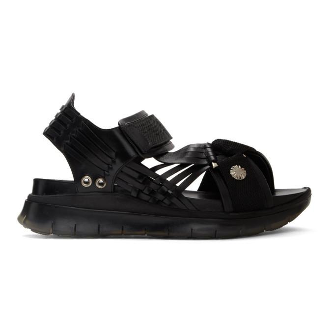 Photo: Toga Virilis Black Hard Leather Sandals