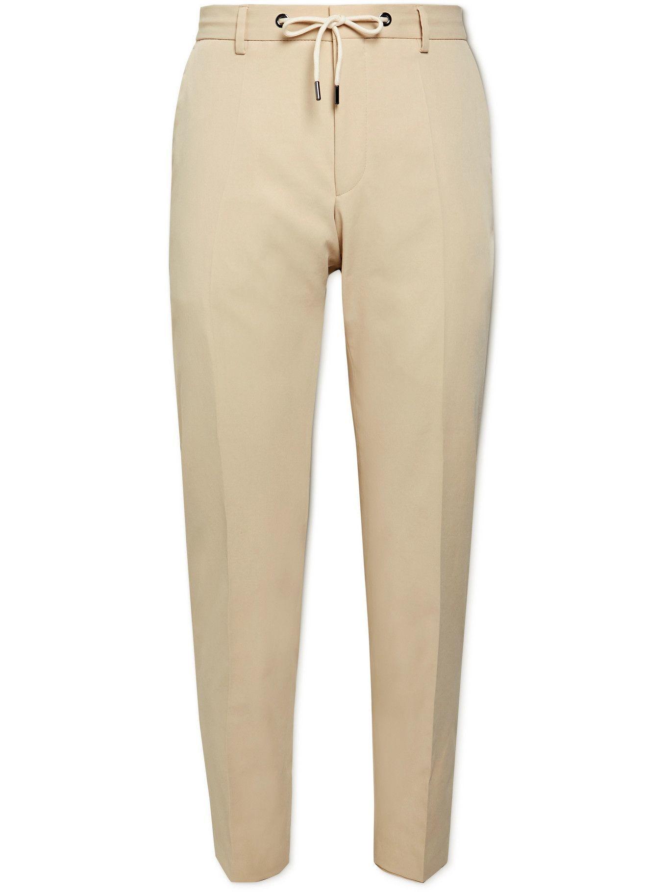 HUGO BOSS - Bardon Slim-Fit Twill Drawstring Suit Trousers - Neutrals