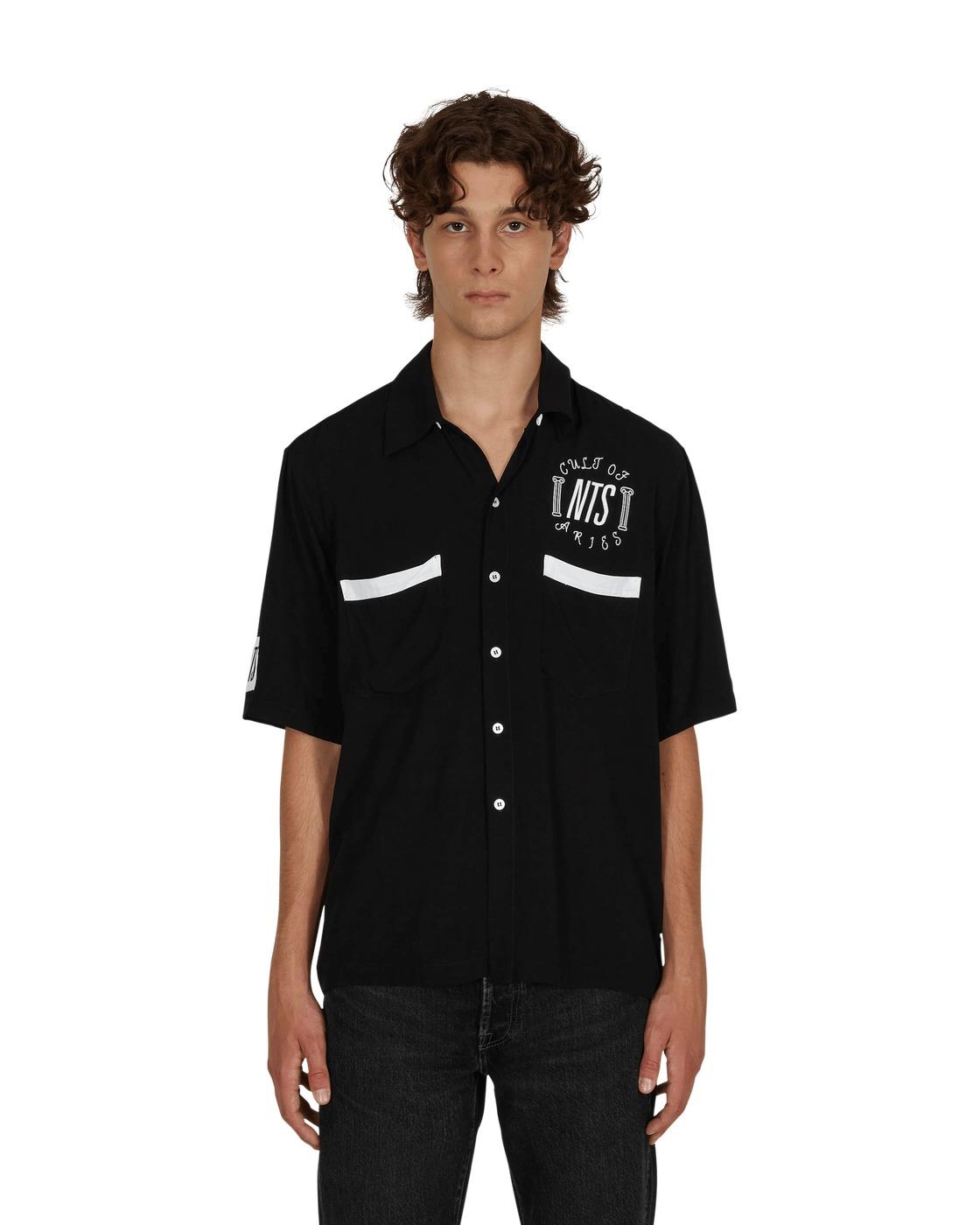 Aries Nts Bowling Hawaiian Shirt Black