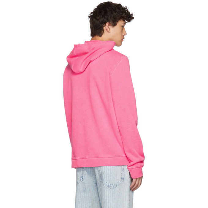 The Elder Statesman Pink Fleece Swirl Hoodie
