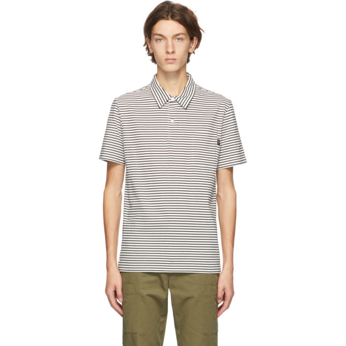 Photo: PS by Paul Smith Black and White Stripe Polo