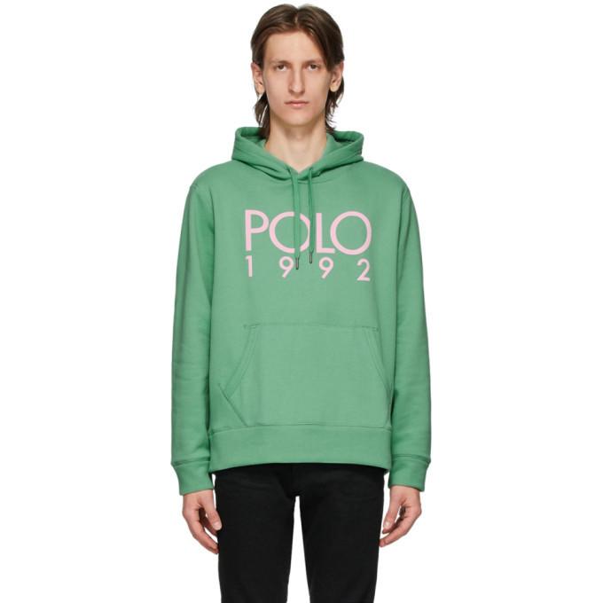 Photo: Polo Ralph Lauren Green Fleece Logo Hoodie