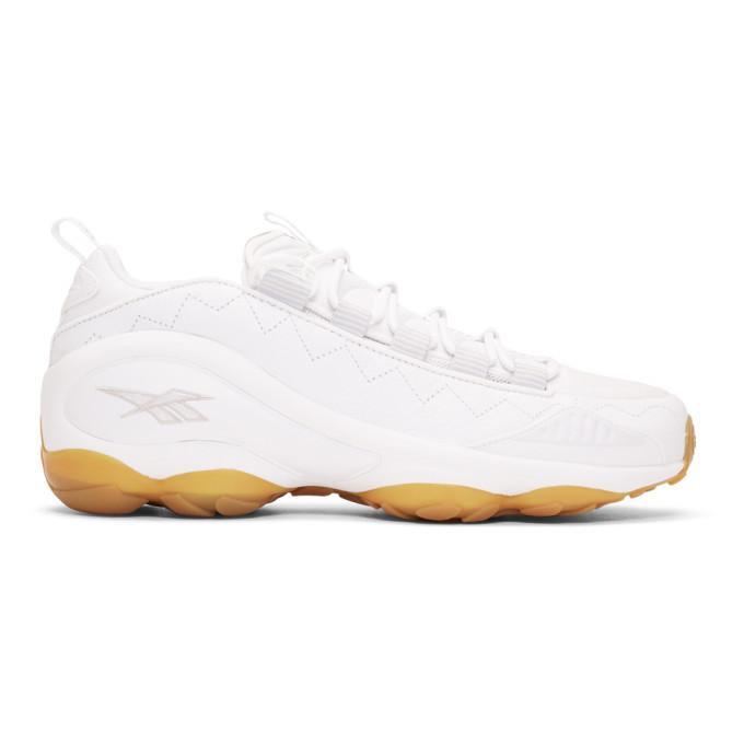 Photo: Reebok Classics White DMX Run 10 Gum Sneakers