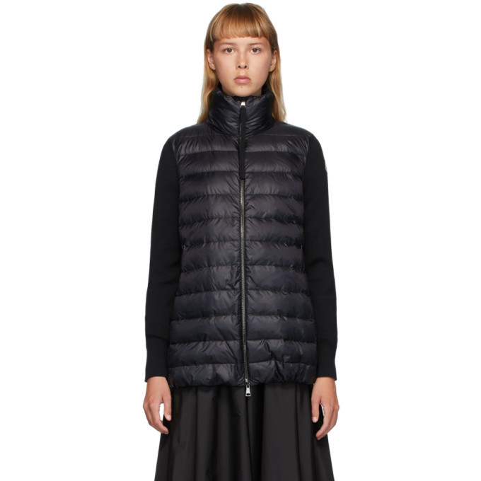 Photo: Moncler Black Down Panelled Jacket