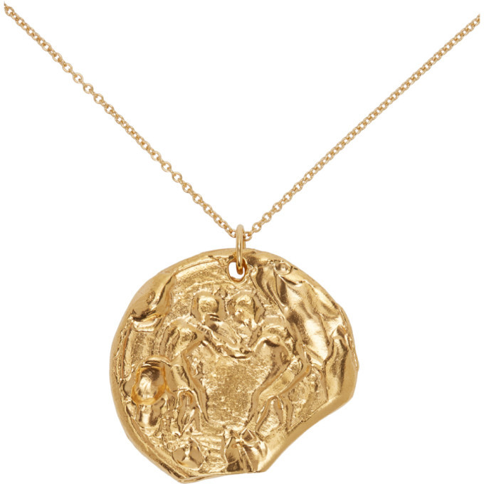 Alighieri Gold The Kindred Souls Medallion Necklace