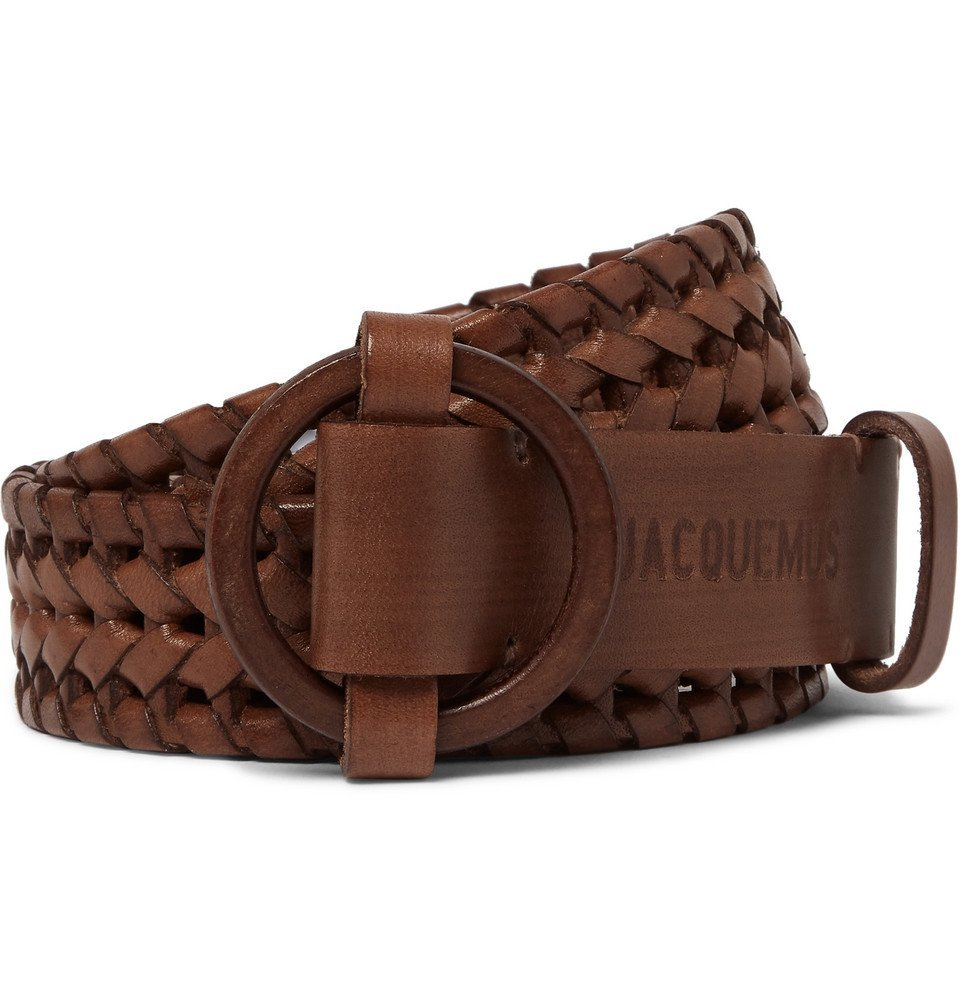 Photo: Jacquemus - 3cm Brown Woven Leather Belt - Brown