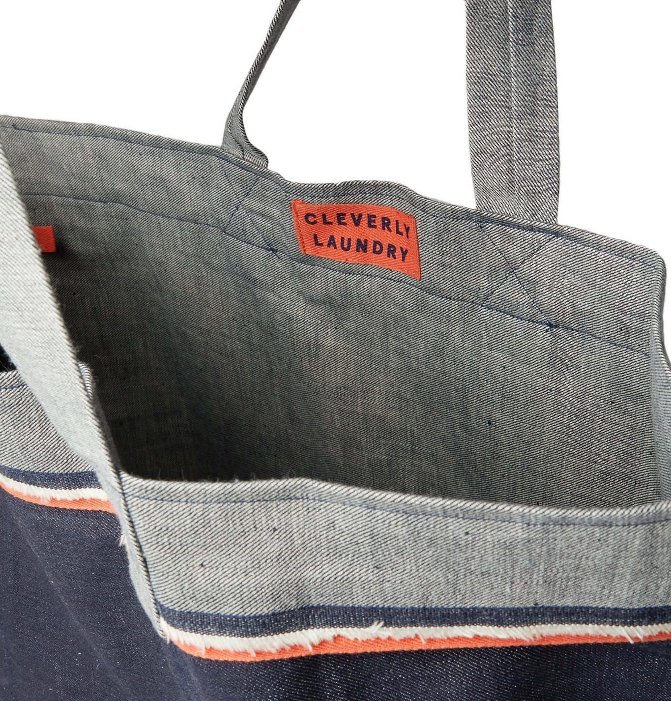 Cleverly Laundry - Twill-Trimmed Frayed Denim Tote - Blue