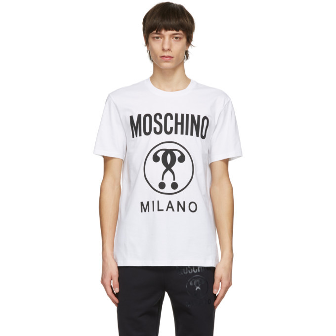 Photo: Moschino White Double Question Mark T-Shirt