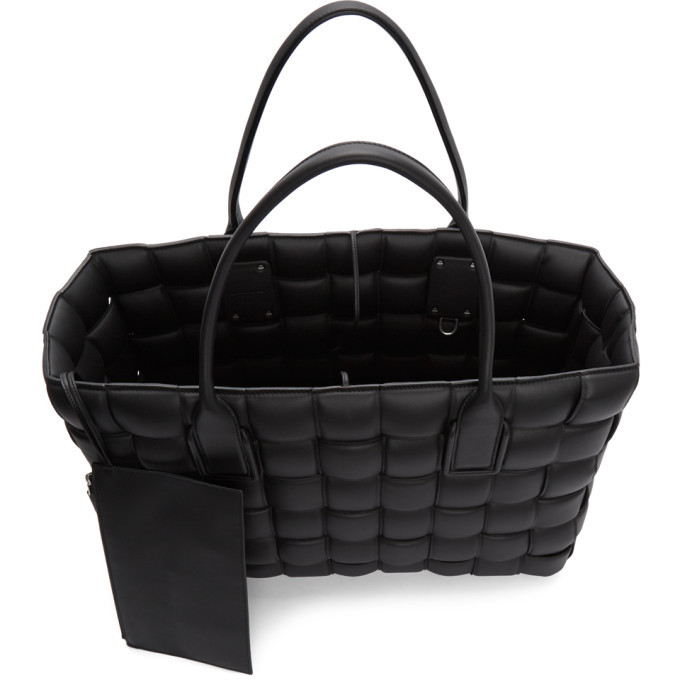 Bottega Veneta Black Large Maxi Intrecciato Tote
