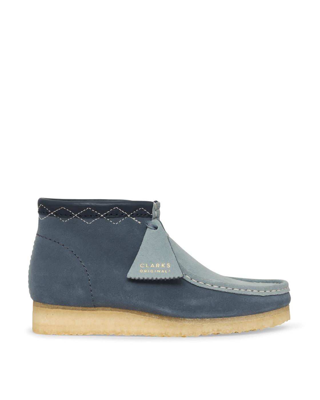 Photo: Clarks Originals Wallabee Boots Blue Combi