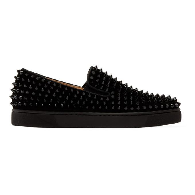 Photo: Christian Louboutin Black Roller-Boat Sneakers