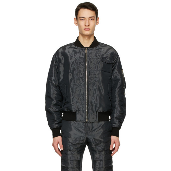Photo: Givenchy Black Patch Wet Effect Bomber Jacket