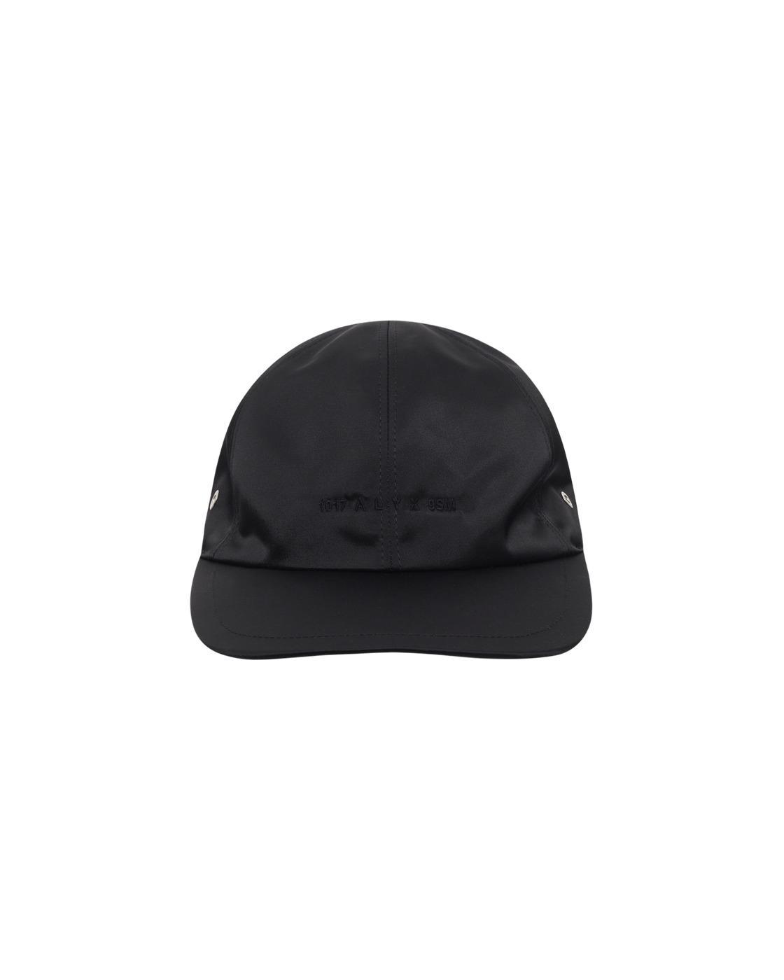 1017 Alyx 9sm Logo Satin Baseball Cap Black