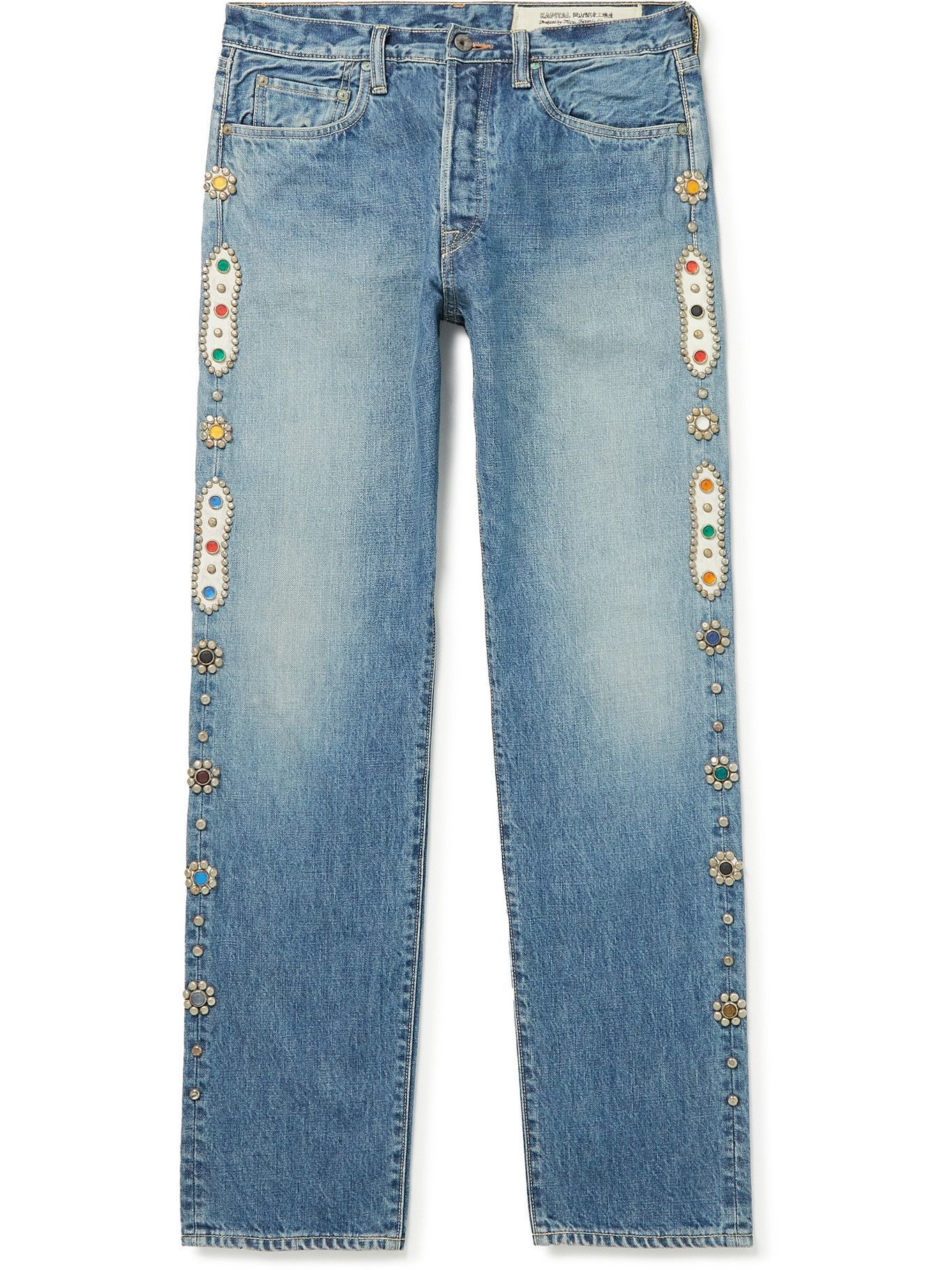 Photo: KAPITAL - Embellished Jeans - Blue