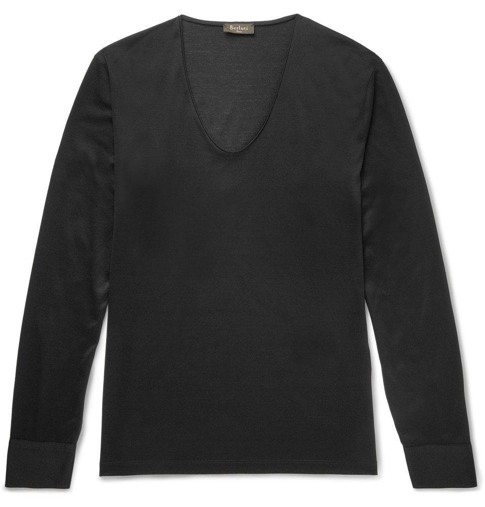 Photo: Berluti - Slim-Fit Cotton-Jersey T-Shirt - Black