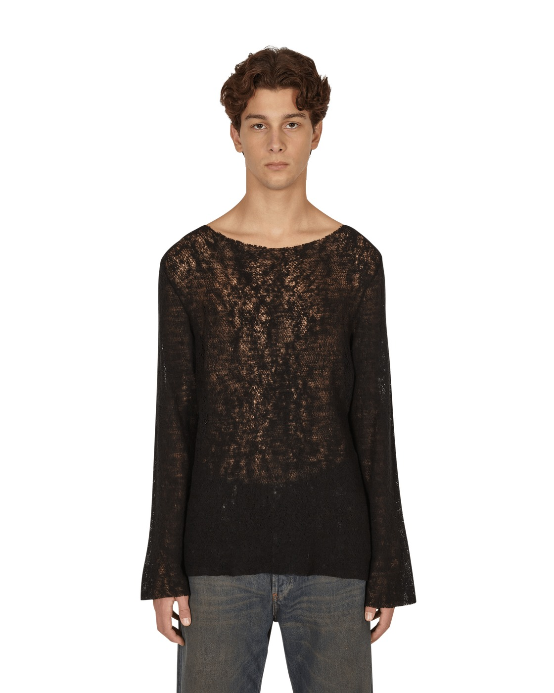 Photo: Our Legacy Two Face Jersey Sweater Black Merino Net