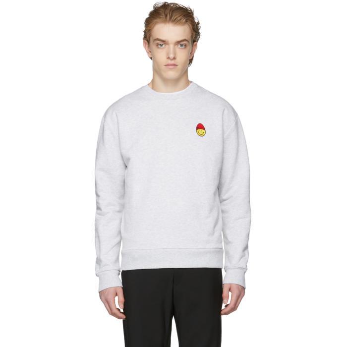 Photo: AMI Alexandre Mattiussi Grey Smiley Edition Sweatshirt