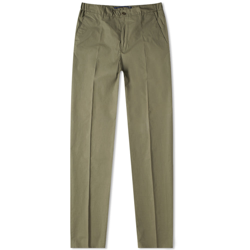 Photo: Incotex Slim Fit Lightweight Drawstring Trouser Olive