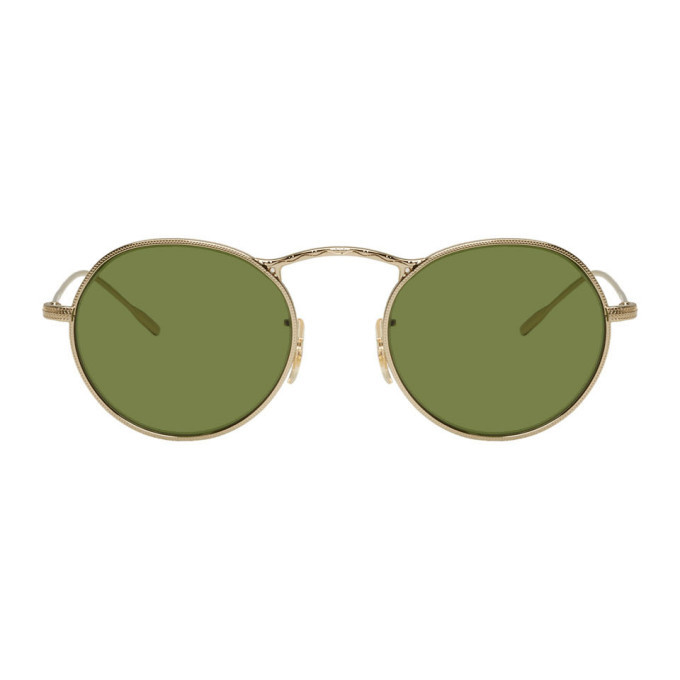Photo: Oliver Peoples Gold 30th Anniversary Edition M-4 Sunglasses