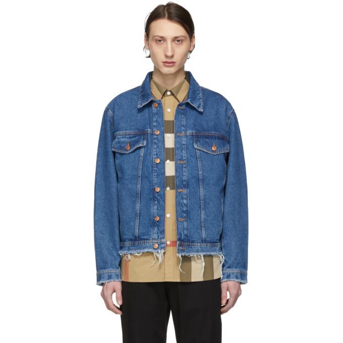 Photo: Hugo Blue Denim Raw Edge Jacket