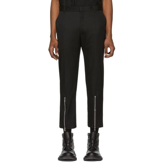Photo: Alexander McQueen Black Cotton Twill Trousers