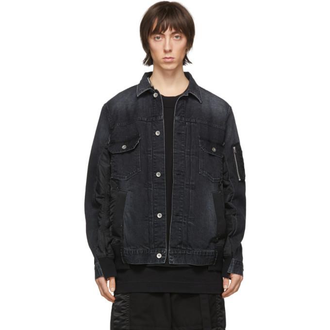 Photo: Sacai Black Denim Jacket