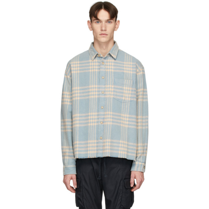 Photo: John Elliott Blue Hemi Oversized Shirt