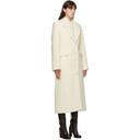 Nina Ricci Off-White Textured Wool Coat