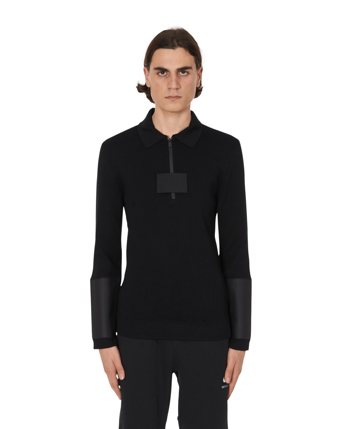 Photo: 1017 Alyx 9sm Zip Up Polo Knitwear Black