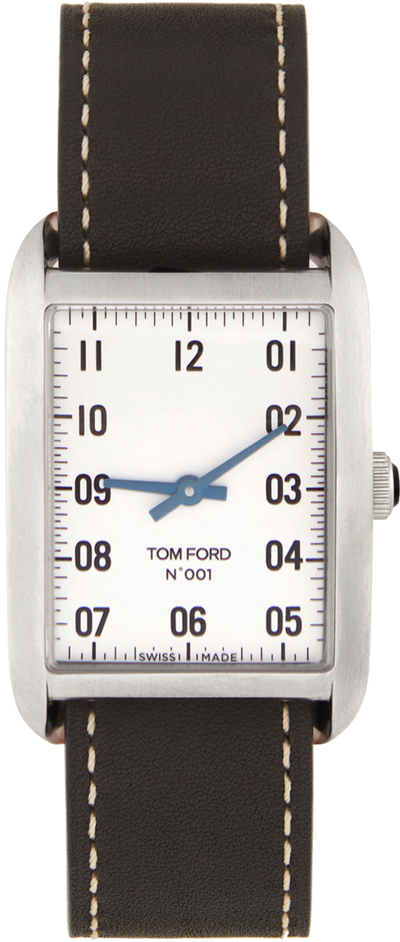 Photo: TOM FORD Black & Silver Leather 001 Watch