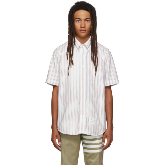 Photo: Thom Browne White Striped RWB Short Sleeve Shirt