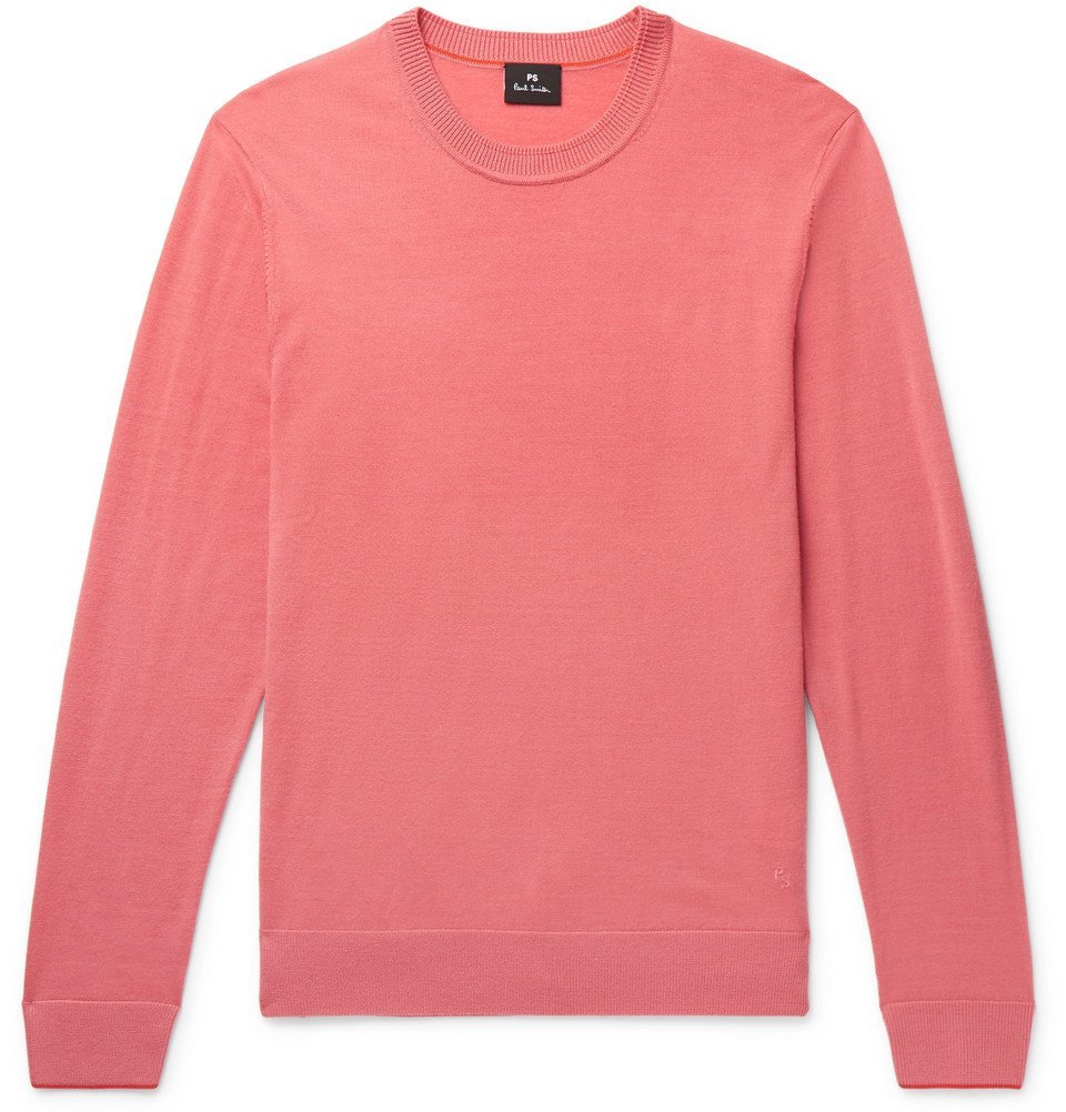 Photo: PS by Paul Smith - Merino Wool Sweater - Men - Pink