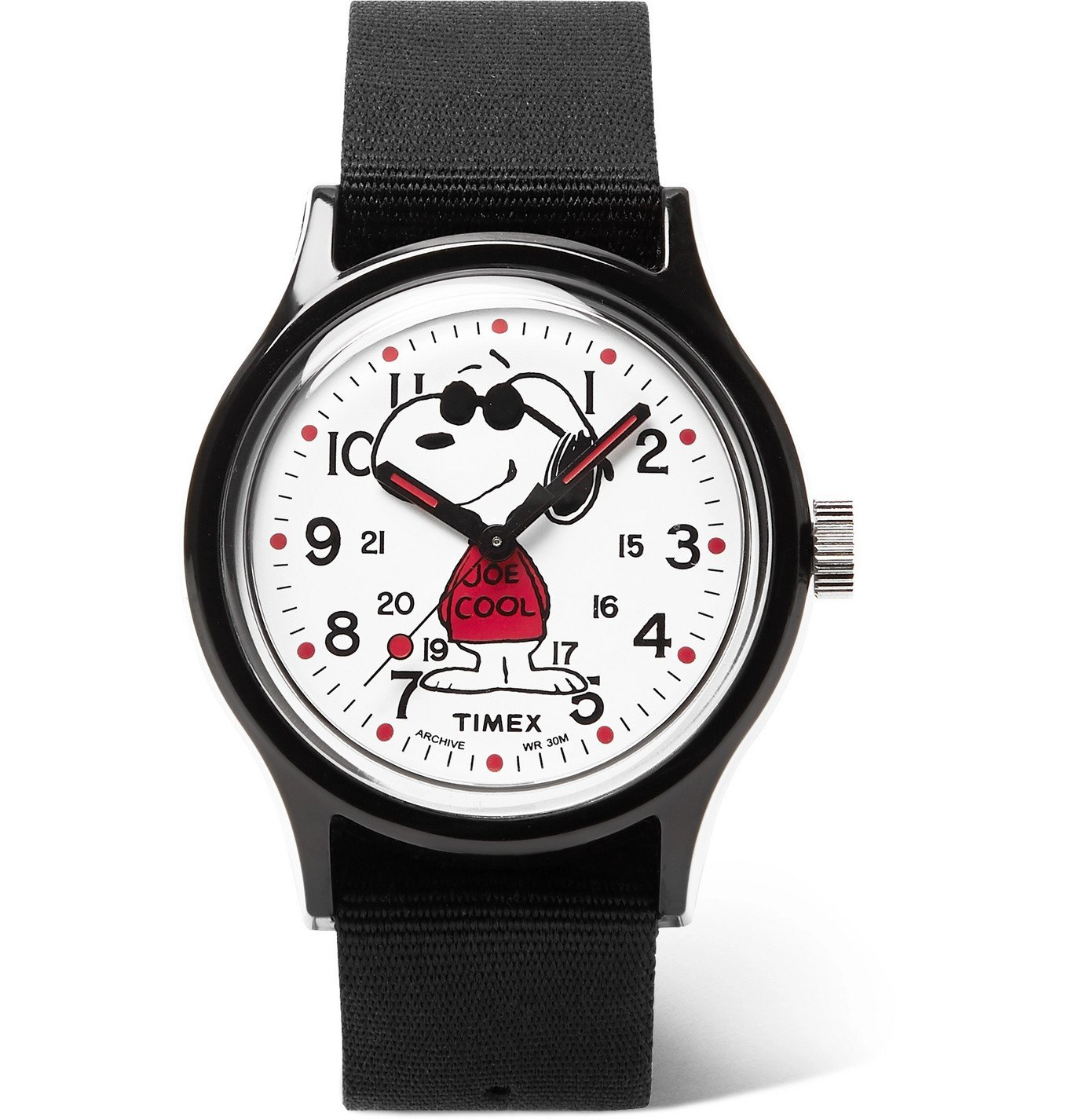 Photo: Timex - Peanuts MK1 36mm Resin and NATO Watch - Black