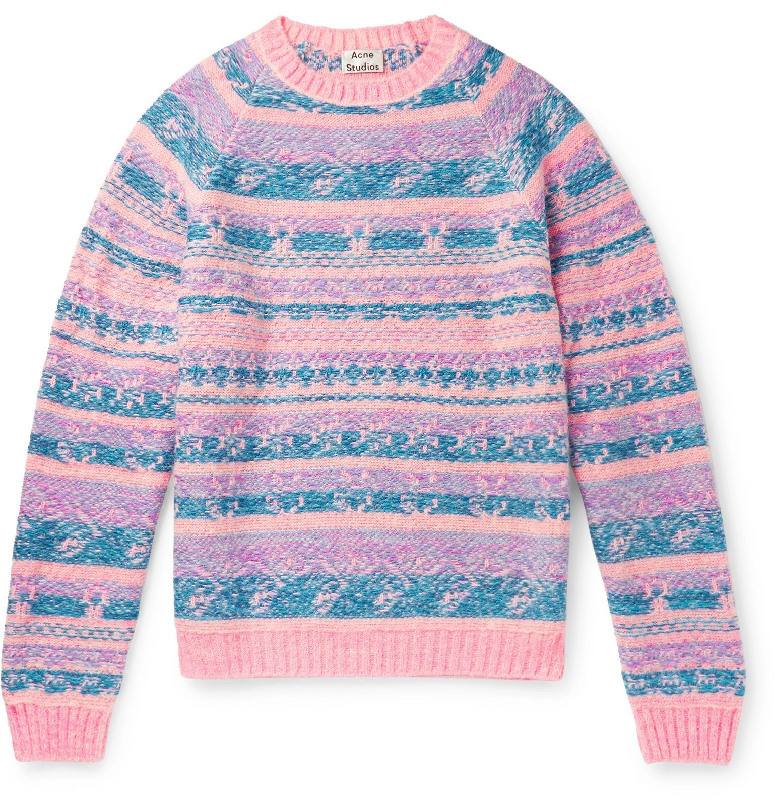 Photo: Acne Studios - Karlos Fair Isle Jacquard Sweater - Pink