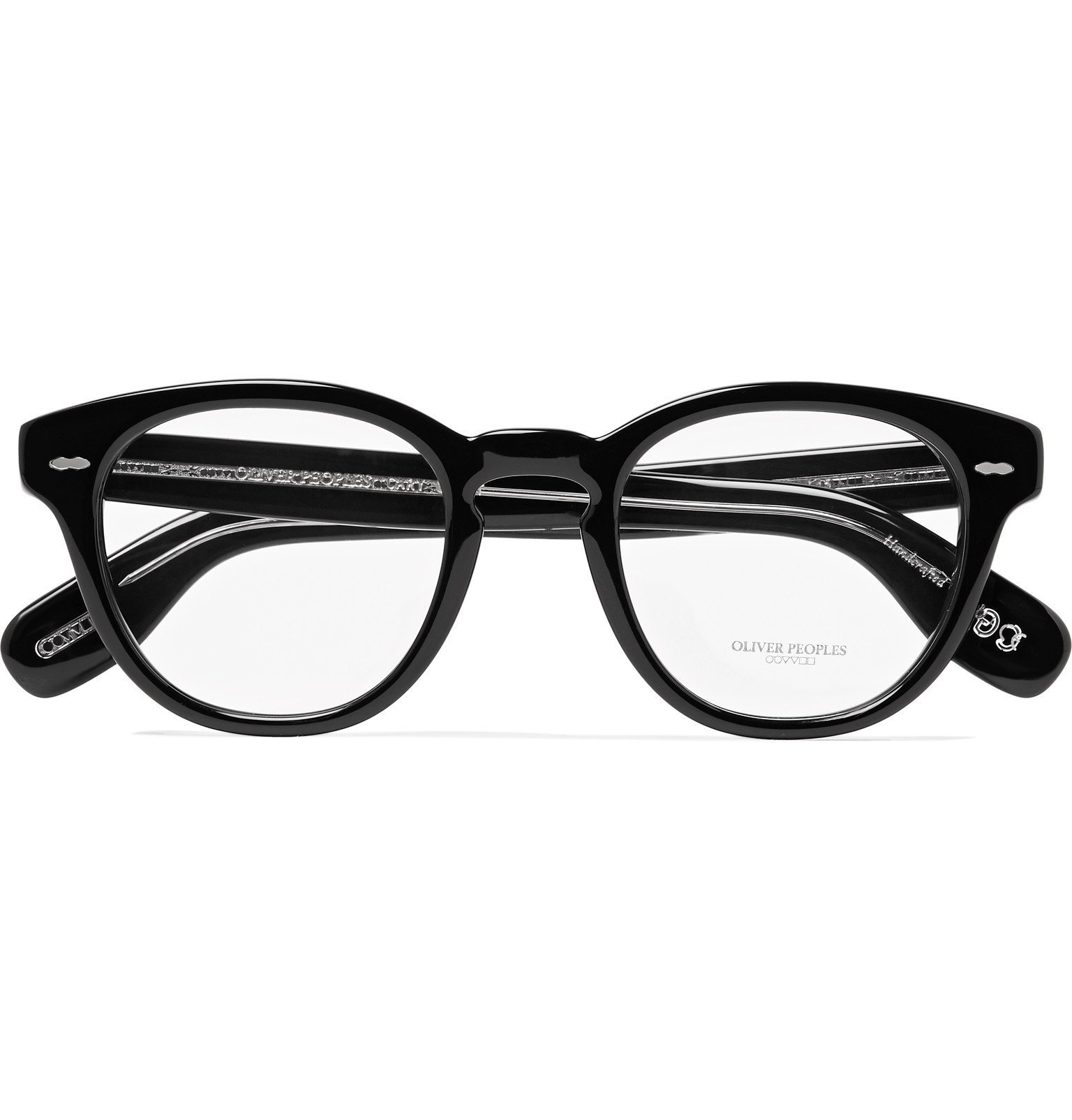 Oliver Peoples - Cary Grant Round-Frame Acetate Optical Glasses - Black