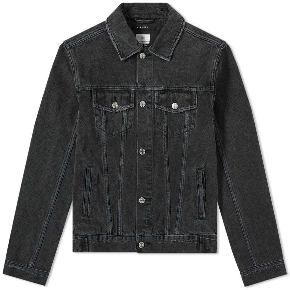 Ksubi Classic Denim Jacket Sketchy Black