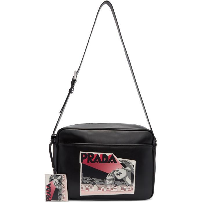 Photo: Prada Black Comic Messenger Bag