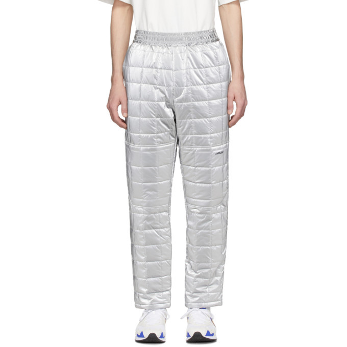 Photo: Ambush Silver Quilted Lounge Pants
