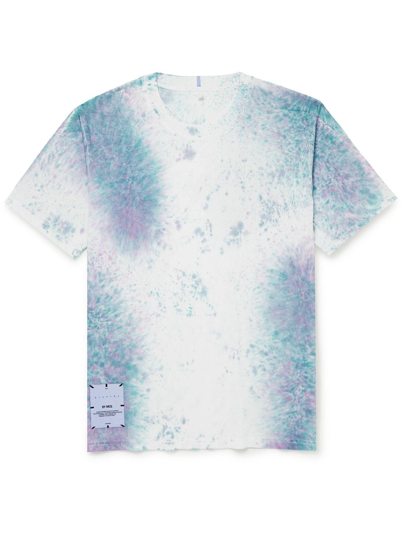 Photo: MCQ - Breathe Logo-Appliquéd Printed Cotton-Jersey T-Shirt - White