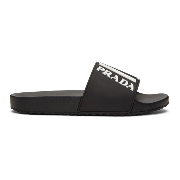 Photo: Prada Black and White Pool Slides