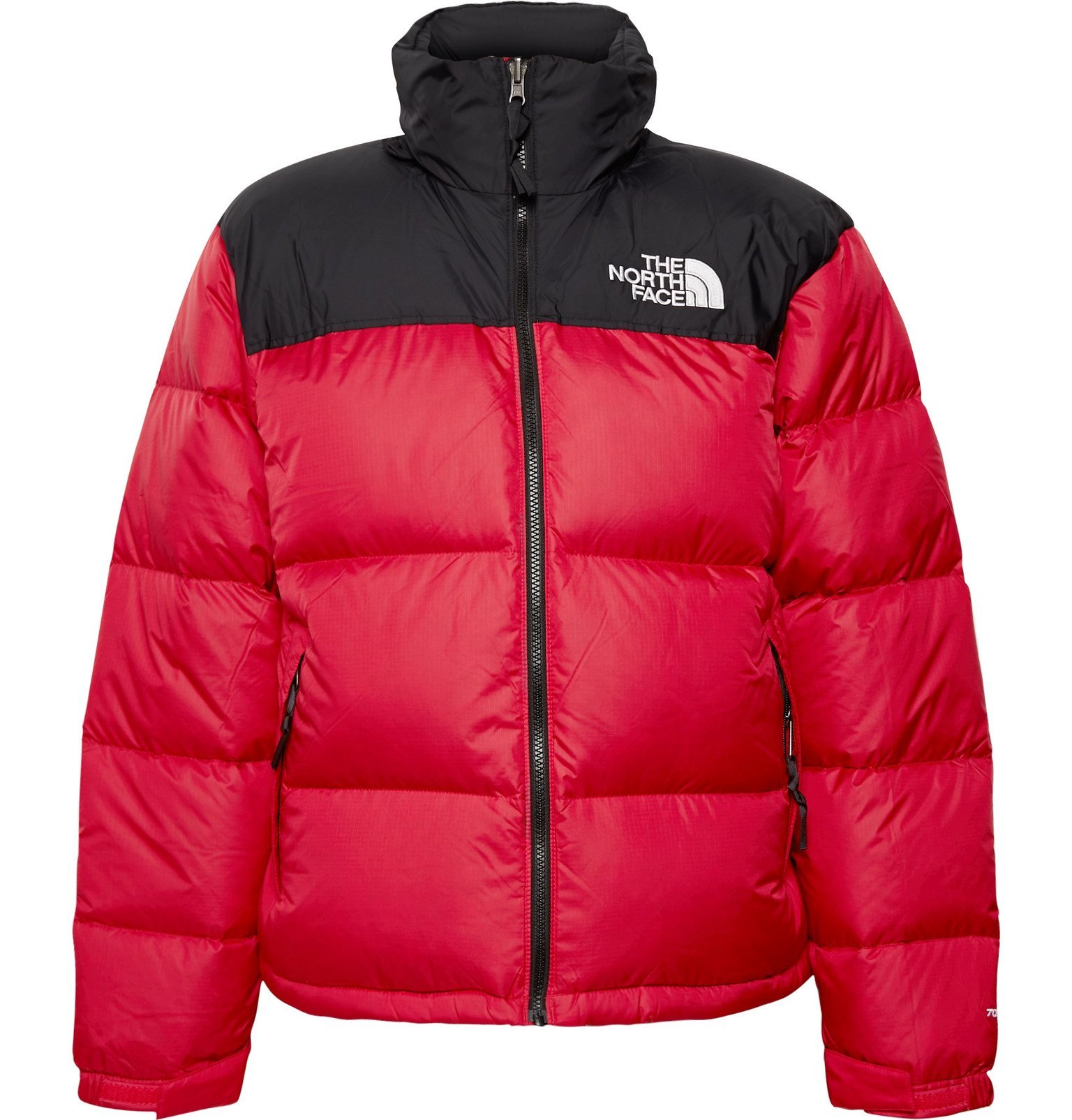 Photo: The North Face - 1996 Nuptse Colour-Block Quilted Nylon-Ripstop Down Jacket - Red